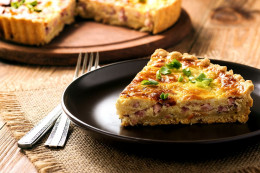 Quiche s cottage cheese